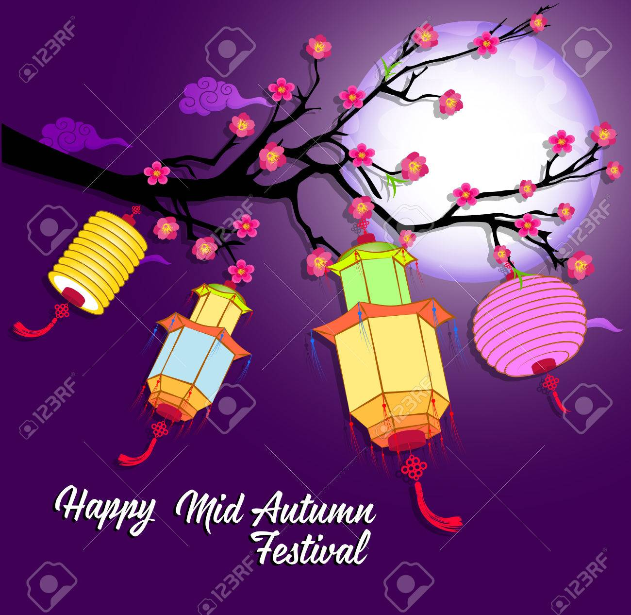 ef4ce3a6f Traditional background for traditions of Chinese Mid Autumn Festival or Lantern  Festival Stock Vector - 81884219
