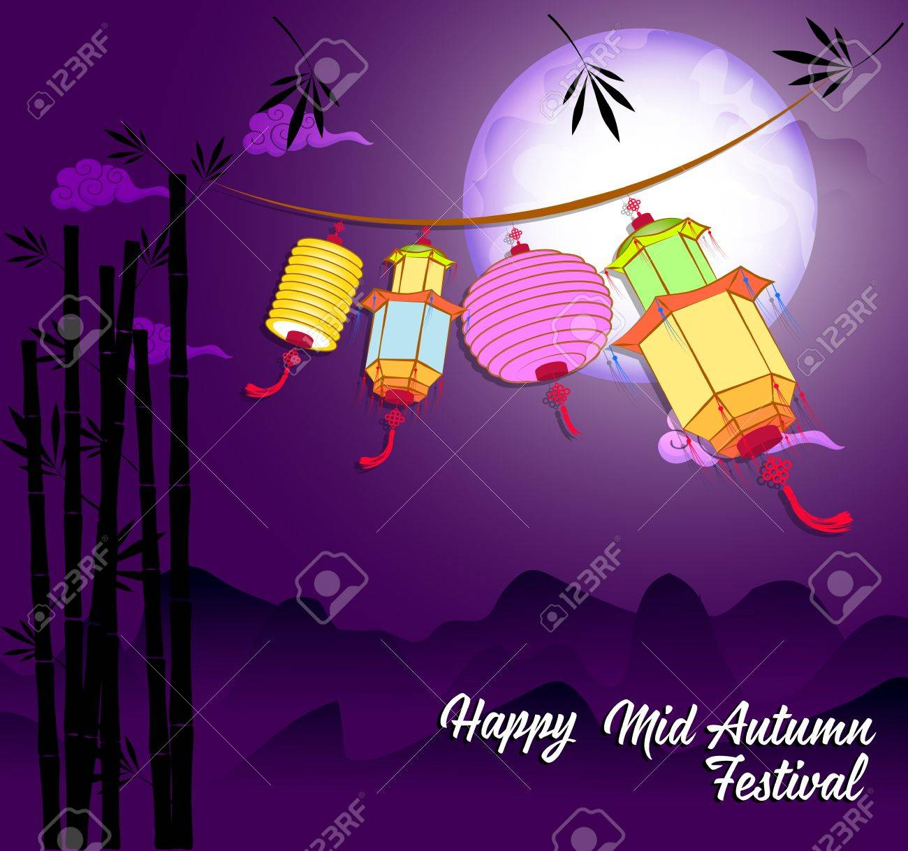 c59ddcd7c Traditional background for traditions of Chinese Mid Autumn Festival or Lantern  Festival Stock Vector - 83078641