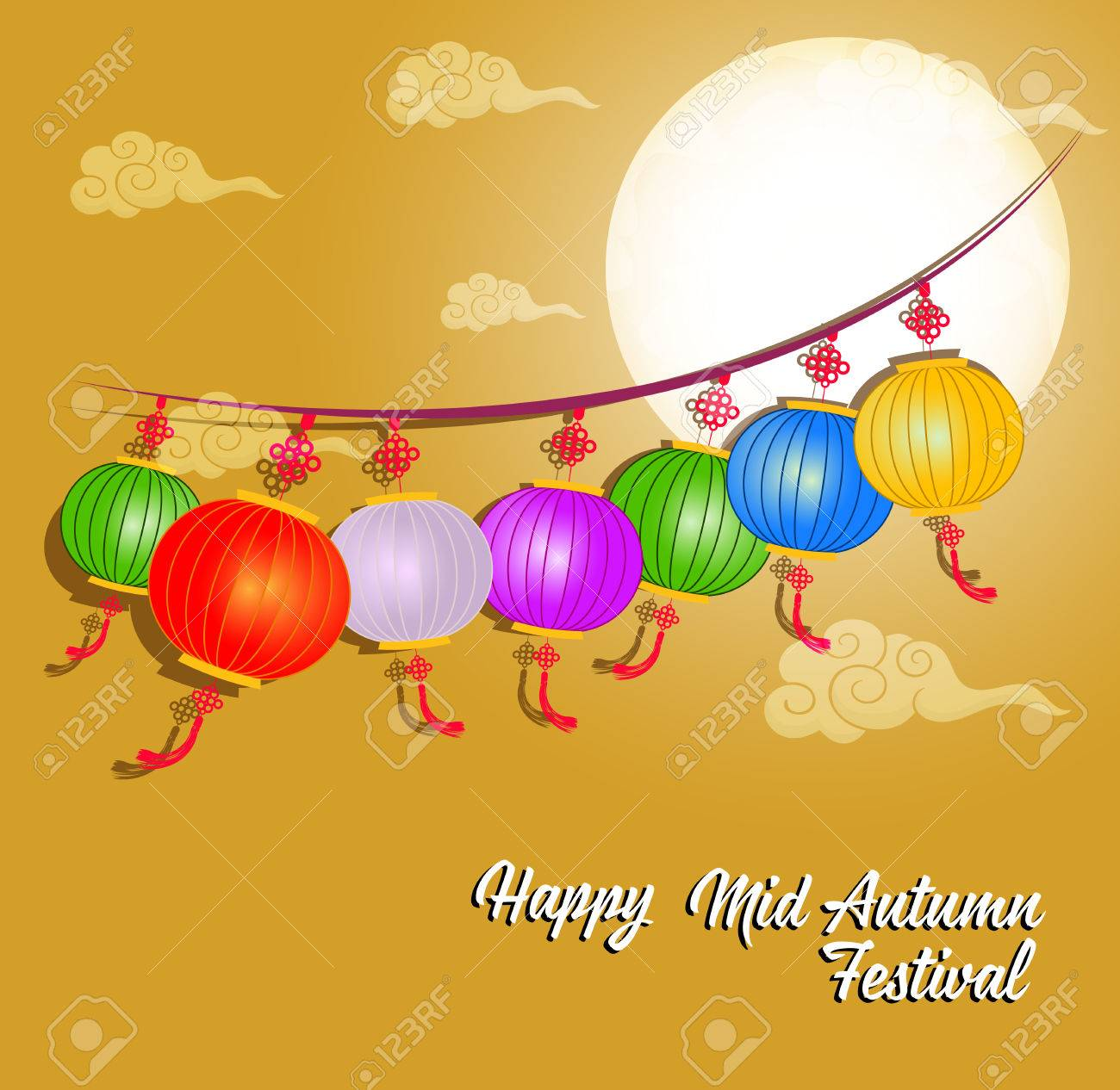 72362b868 Traditional background for traditions of Chinese Mid Autumn Festival or Lantern  Festival Stock Vector - 83078972