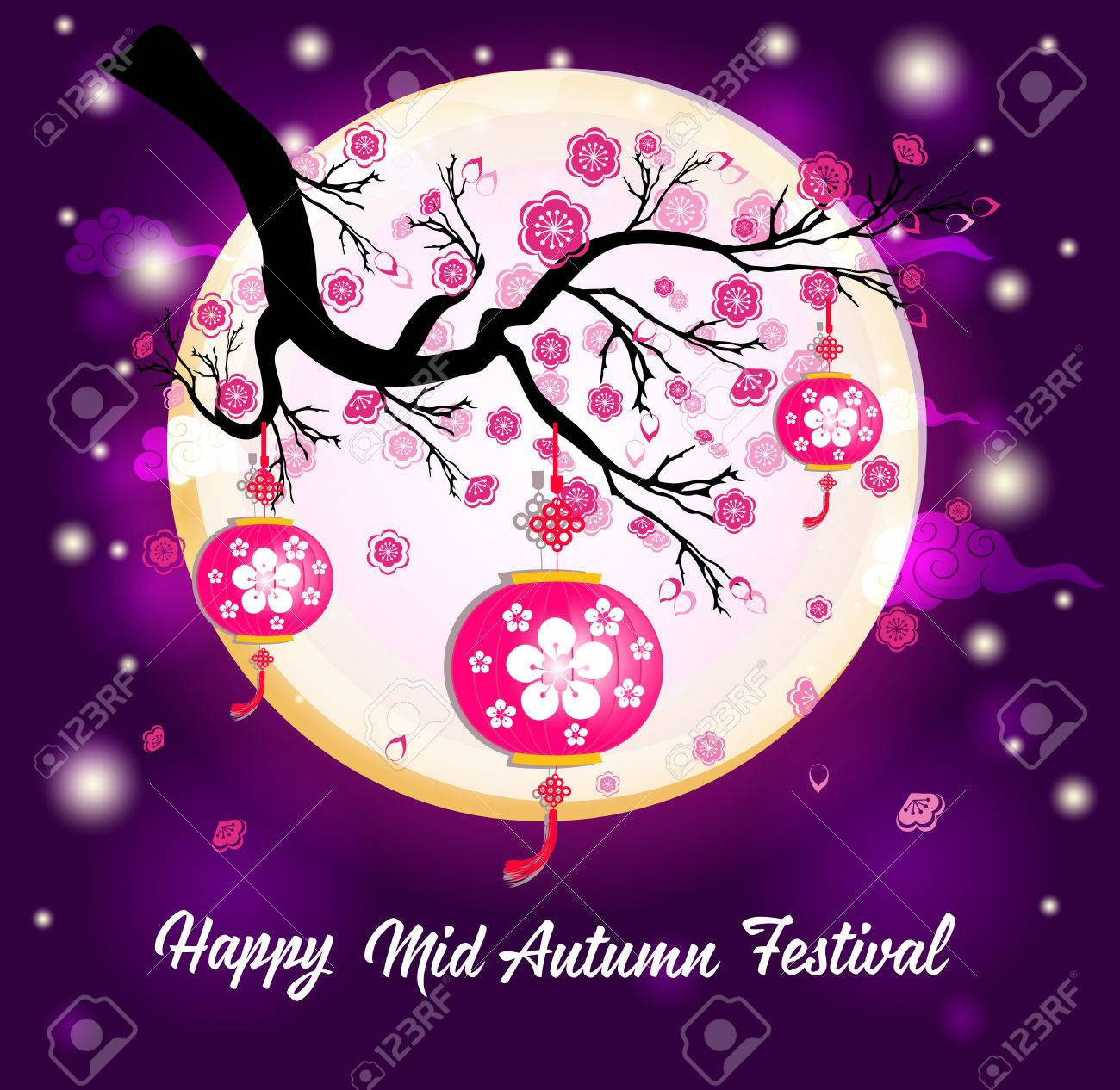 6bf7c7f4b Traditional background for traditions of Chinese Mid Autumn Festival or Lantern  Festival Stock Vector - 83078973