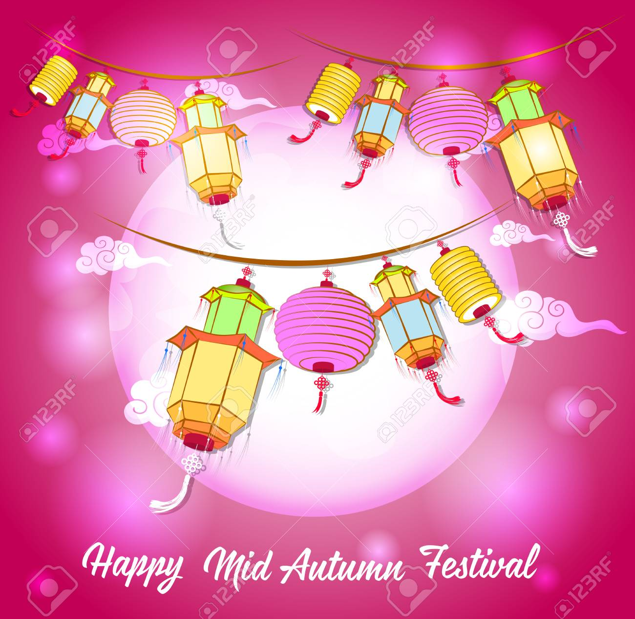 bbb98551c Traditional background for traditions of Chinese Mid Autumn Festival or Lantern  Festival Stock Vector - 83079149