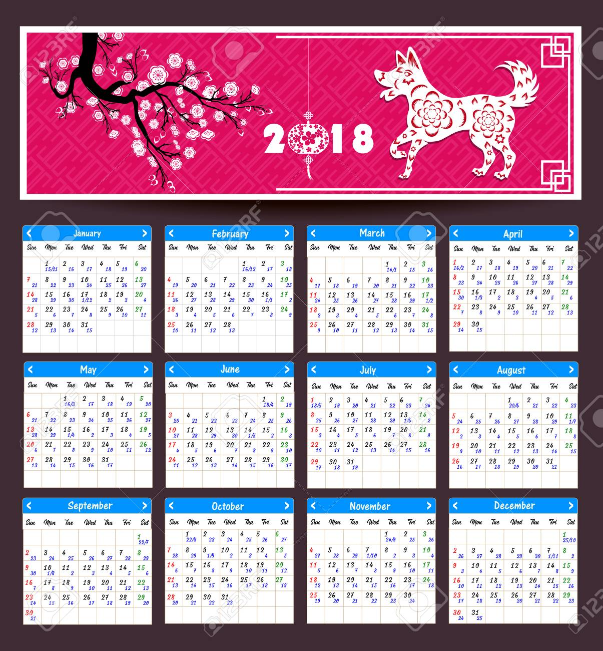 Calendrier Lunaire Chinois 2021 Lunar Calendar, Chinese Calendar For Happy New Year 2018 Year