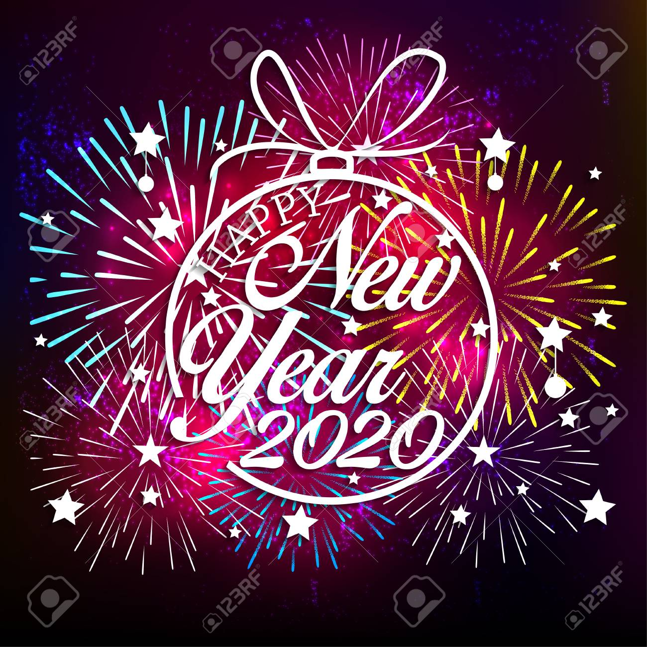 Happy New Year Clipart 2020 68