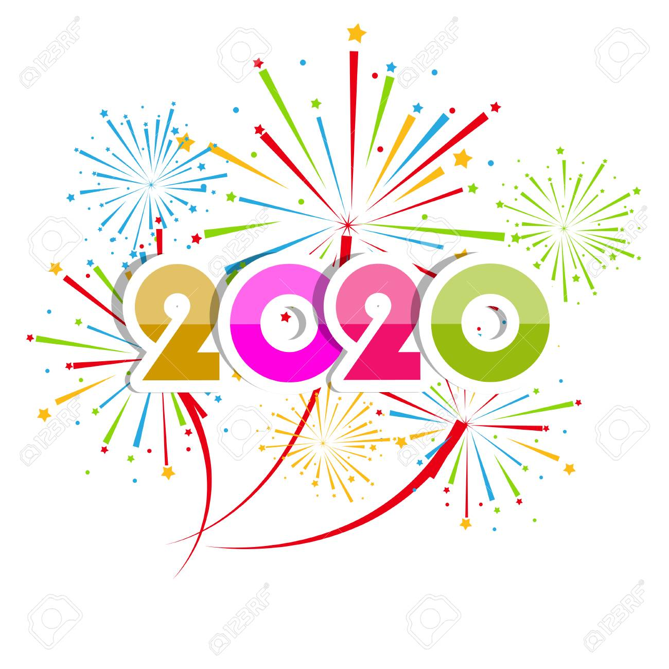 happy new year 2020 background with fireworks royalty free cliparts vectors and stock illustration image 112383849 happy new year 2020 background with fireworks