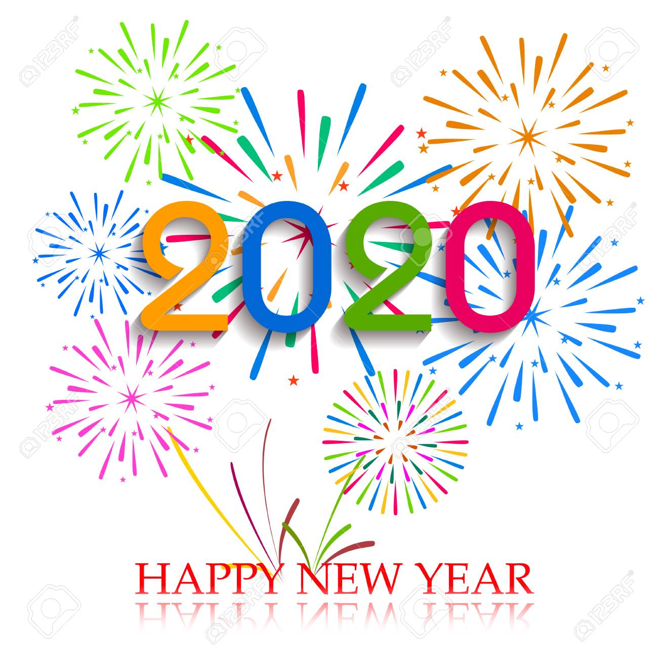 Happy New Year 2020 Images.Happy New Year 2020 Background With Fireworks