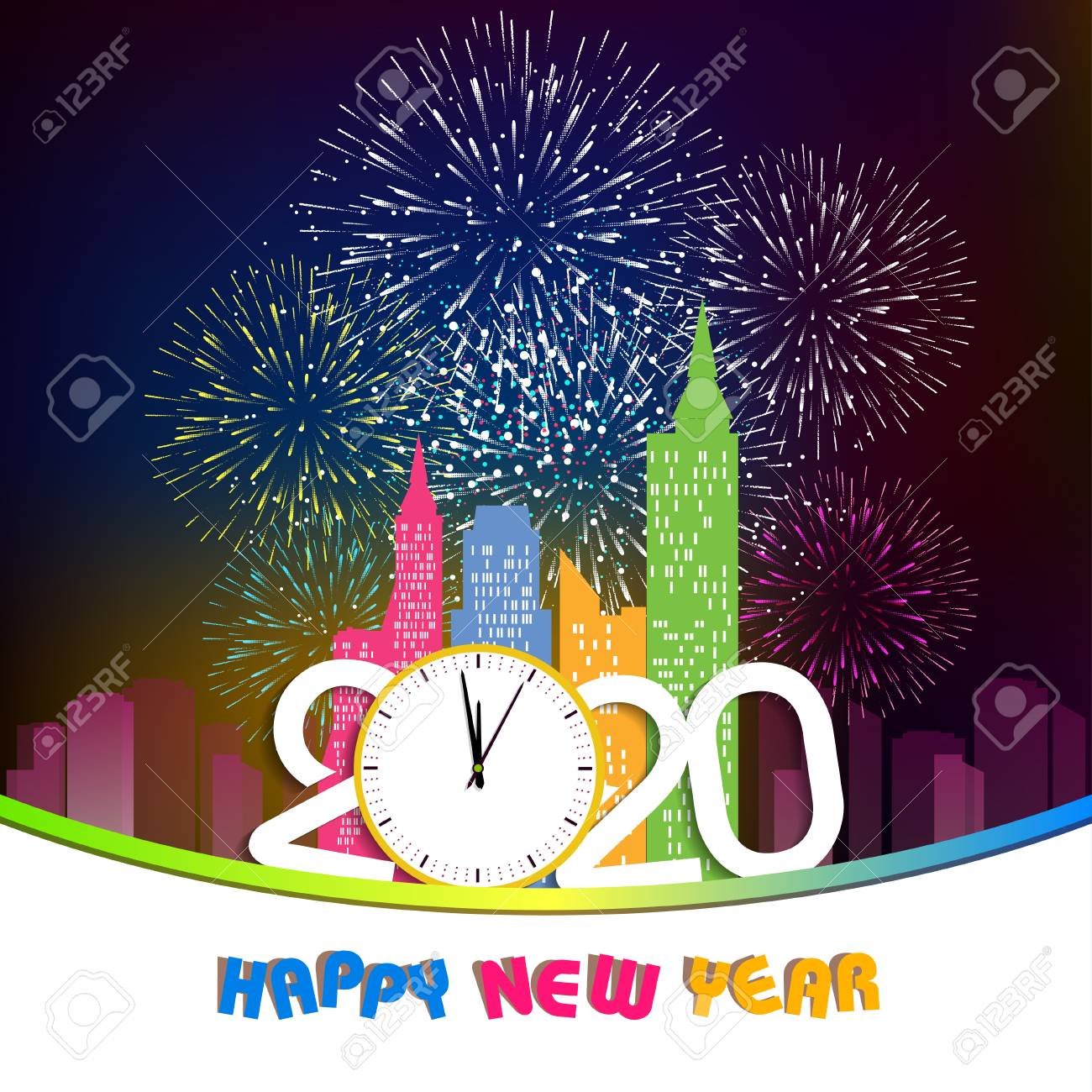 Happy New Year Clipart 2020 43
