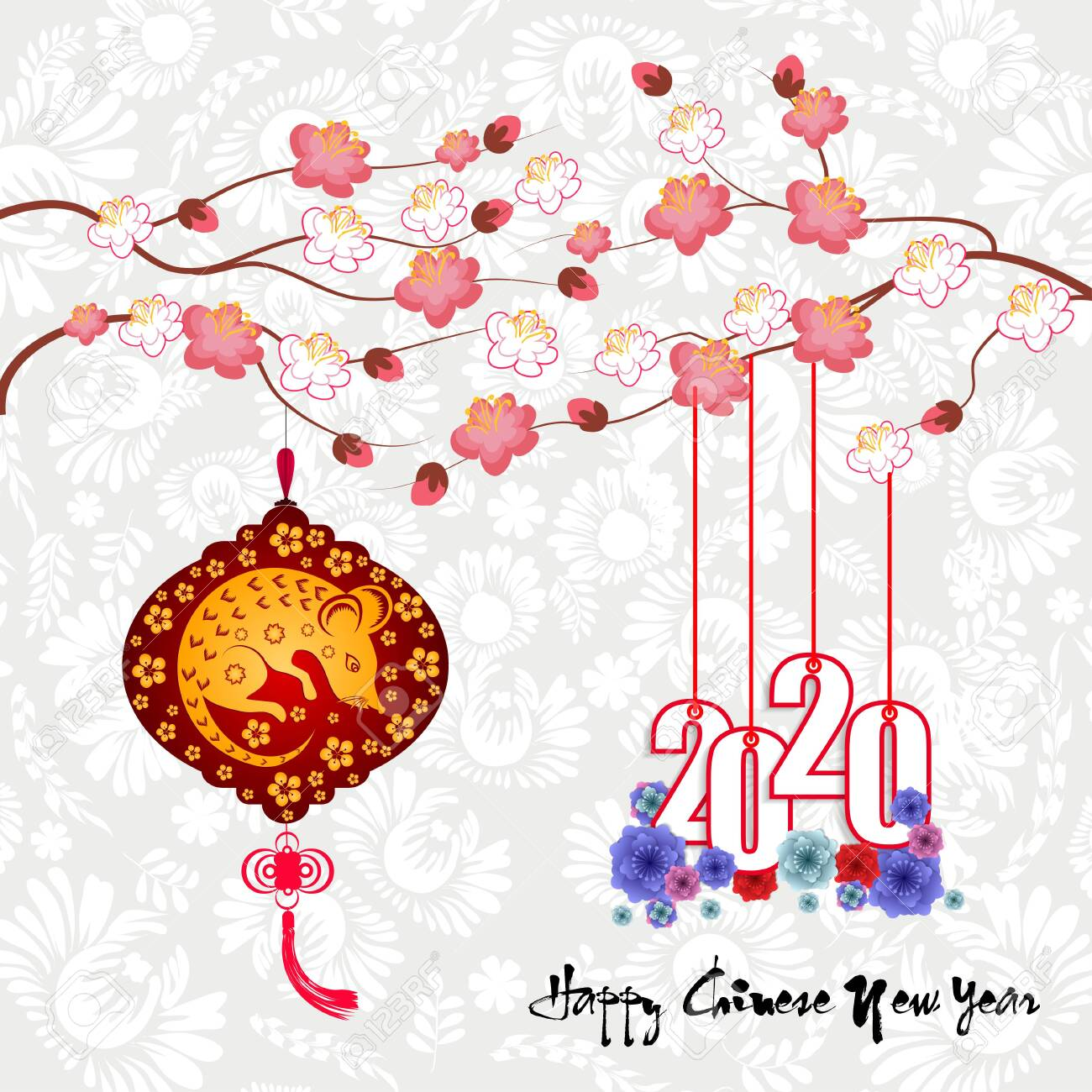 Happy New Chinese Year 2020 year of the Rat year of the mouse - 128373209