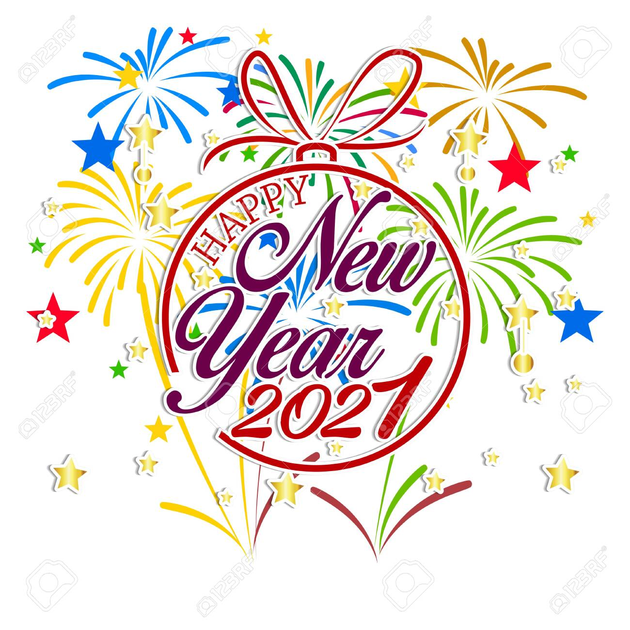 Happy New Year 2021 With Firework Background. Firework Display.. Royalty  Free Cliparts, Vectors, And Stock Illustration. Image 136894850.