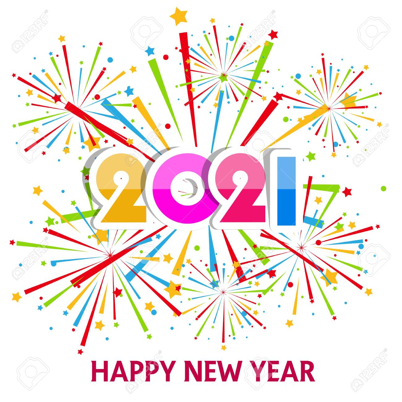 happy new year 2021 with firework background firework display royalty free cliparts vectors and stock illustration image 141533446 happy new year 2021 with firework background firework display