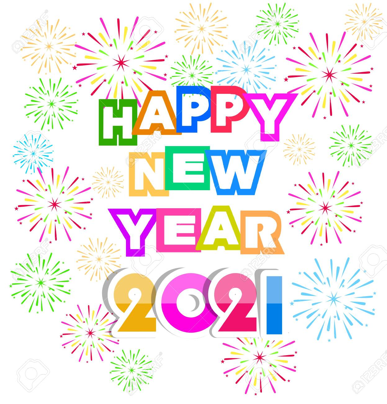 happy new year 2021 with firework background firework display royalty free cliparts vectors and stock illustration image 136892375 happy new year 2021 with firework background firework display