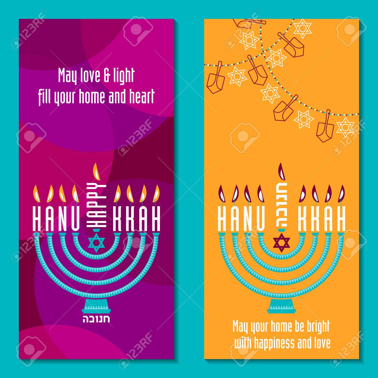 2 greeting cards happy hanukkah jewish holiday vector illustration 2 greeting cards happy hanukkah jewish holiday vector illustration stock vector 47995153 m4hsunfo Image collections