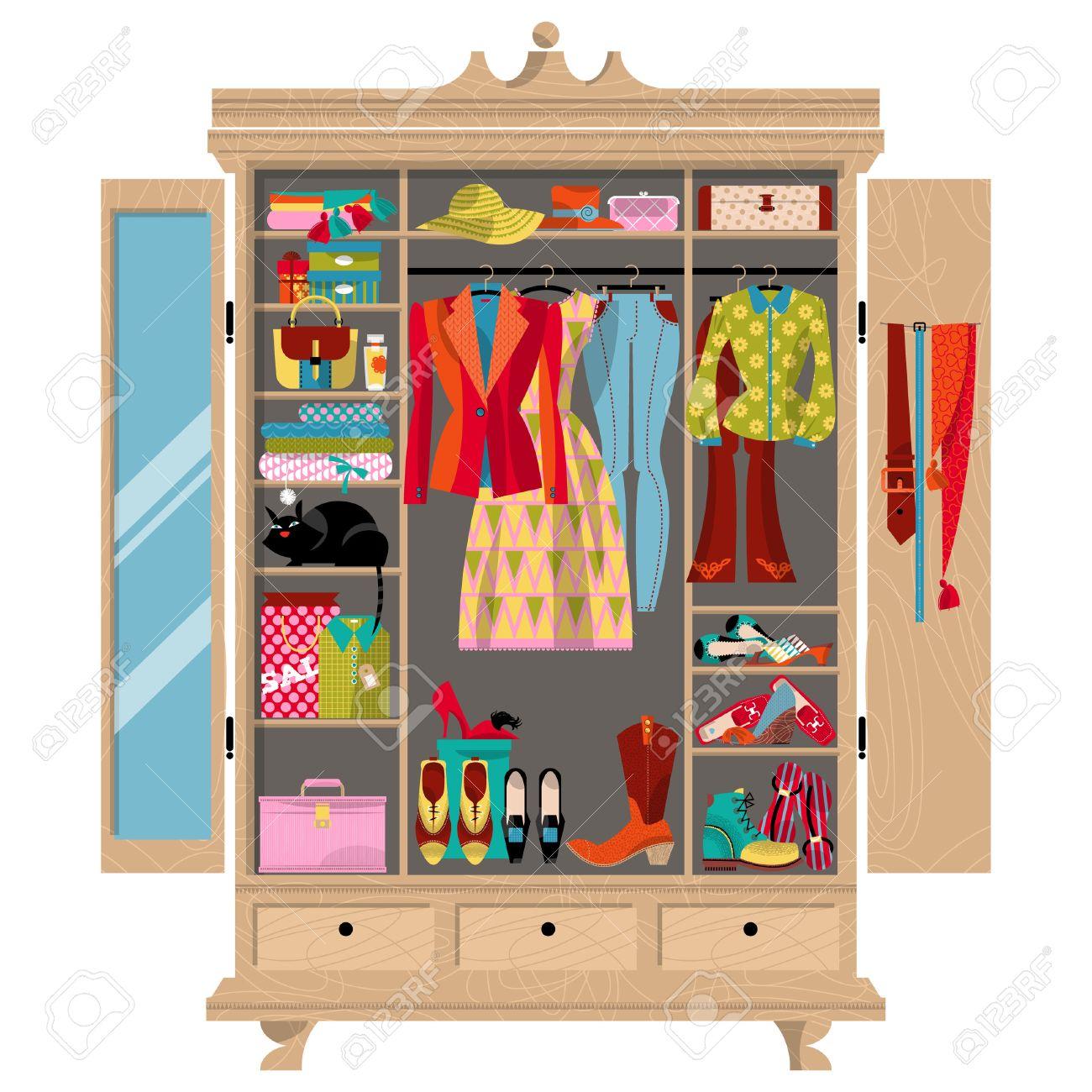 armario para telas armario con ropa bolsos cajas y zapatos tiempo de