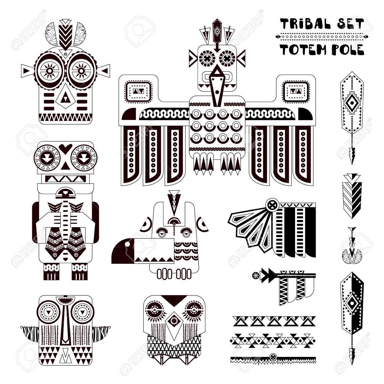 54 alaska totem stock illustrations cliparts and royalty free