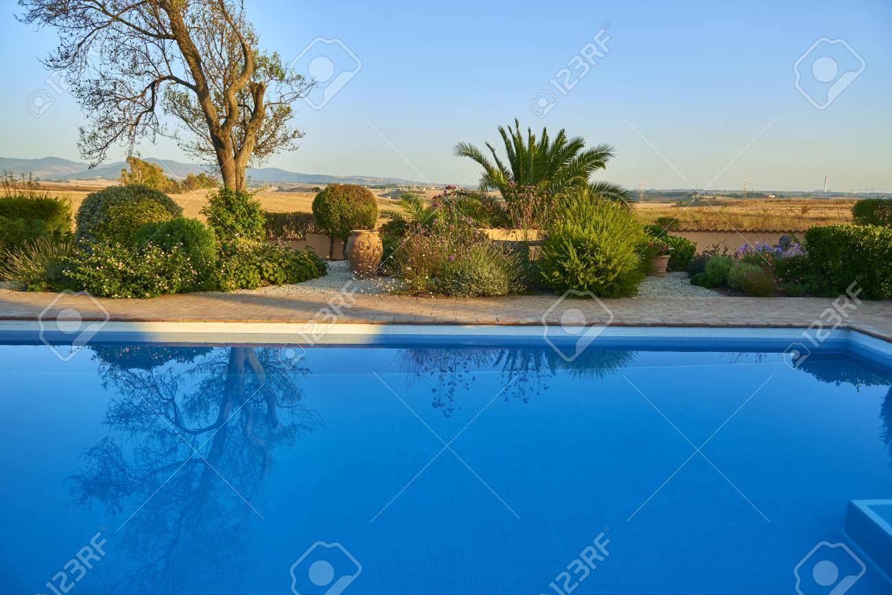 Stock Photo - swimming pool deep blue - Swimming Pool Deep Blue Stock Photo, Picture And Royalty Free Image