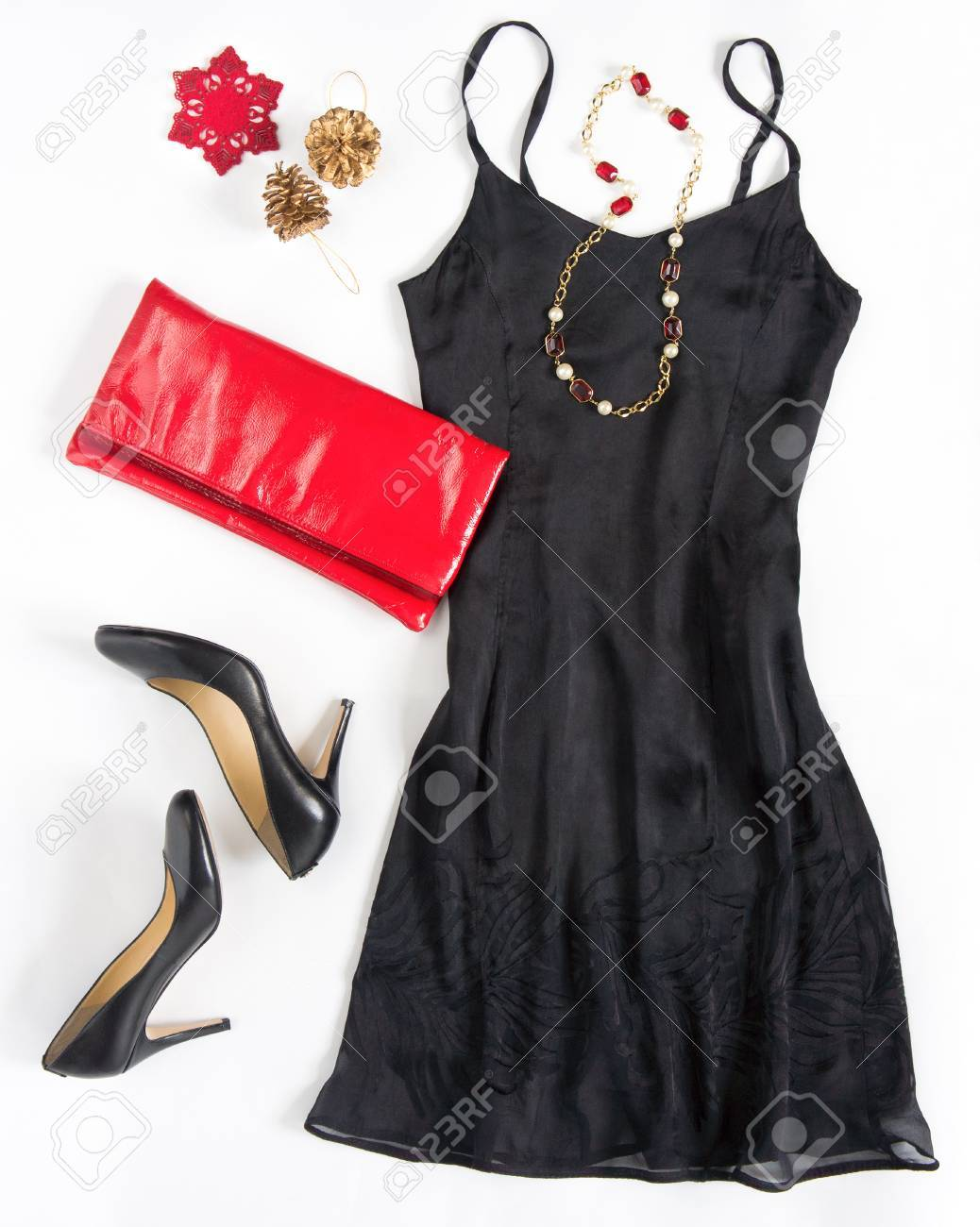 Christmas Party Outfi. Cocktail Dress Outfit, Night Out Look.. Stock ...
