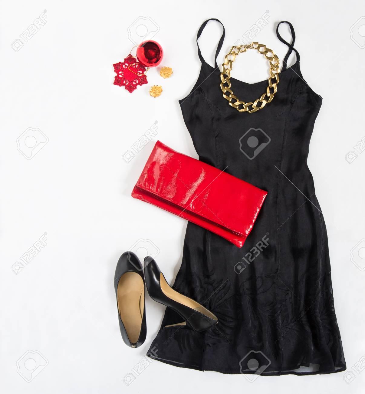 Weihnachtsfeier Outfit. Cocktailkleidausstattung, Nacht Heraus ...