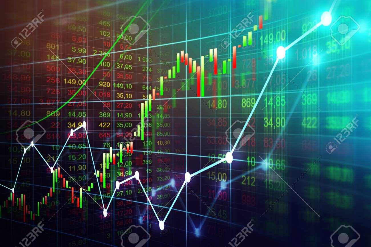 Stock market or forex trading graph in graphic concept suitable for financial investment or Economic trends business idea and all art work design. Abstract finance background - 96748768