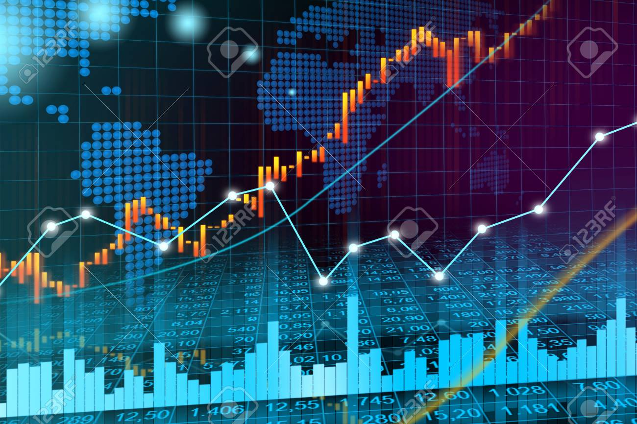 Stock Market Or Forex Trading Graph In Graphic Concept Suitable.. Stock  Photo, Picture And Royalty Free Image. Image 96407141.