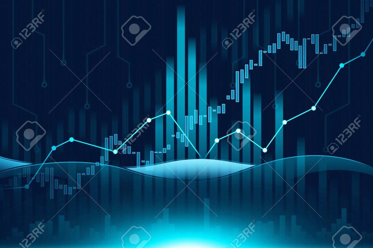 stock market or forex trading graph in graphic concept suitable