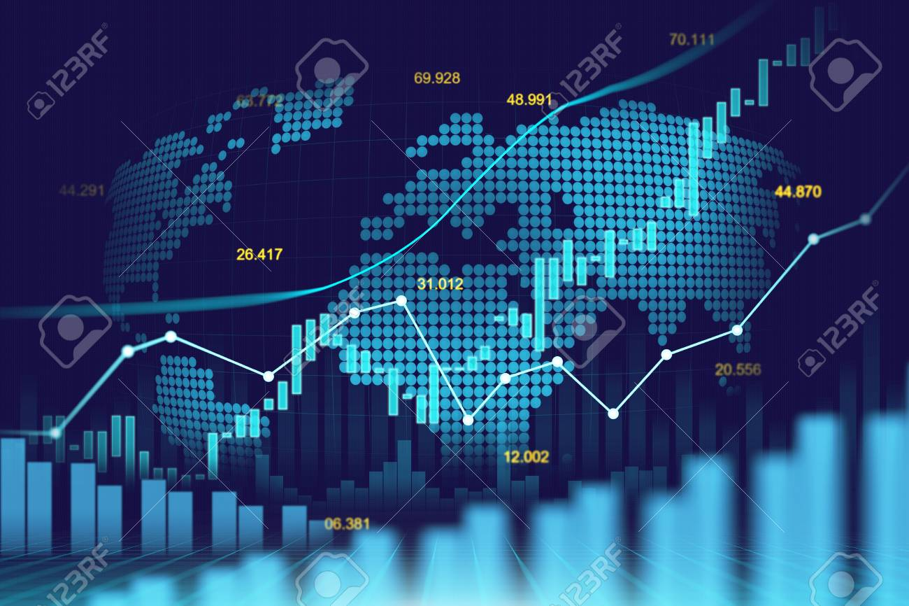 Stock Market Or Forex Trading Graph In Futuristic Concept Suitable ...