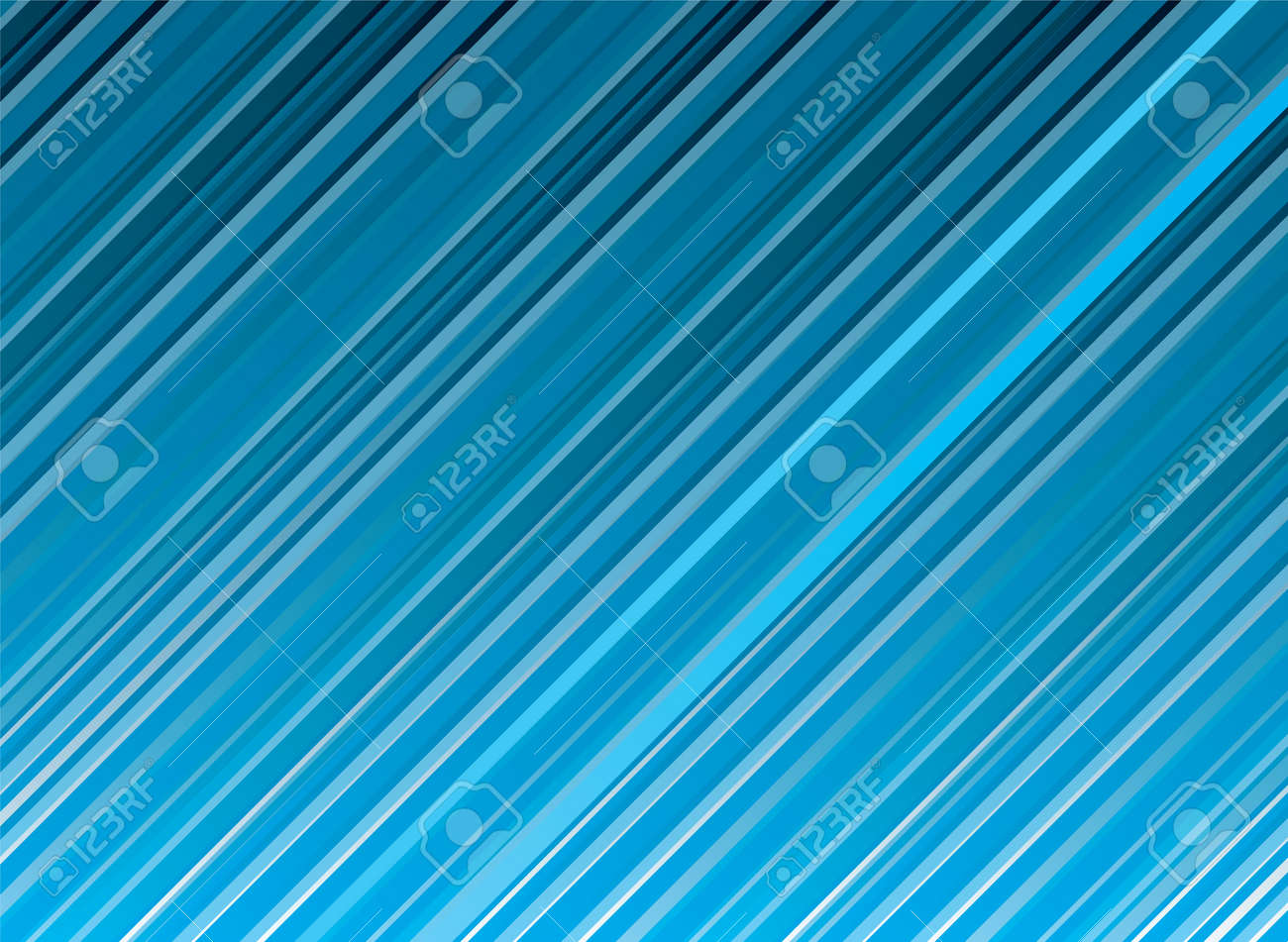 Illustrated abstract background with blue diagnal stripes with copy space Stock Vector - 2378760