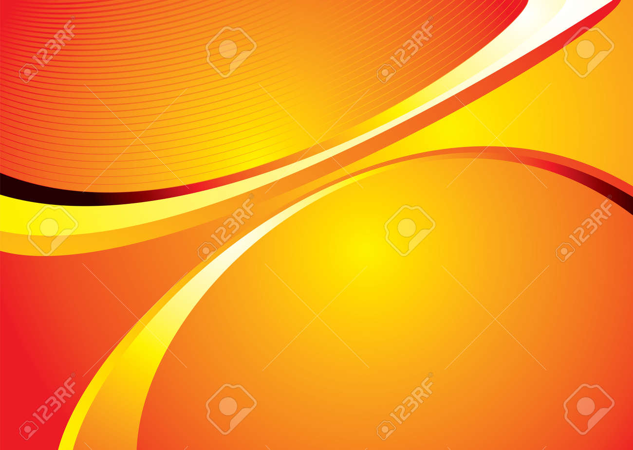 Abstract orange and yellow background with copy space Stock Vector - 2595444