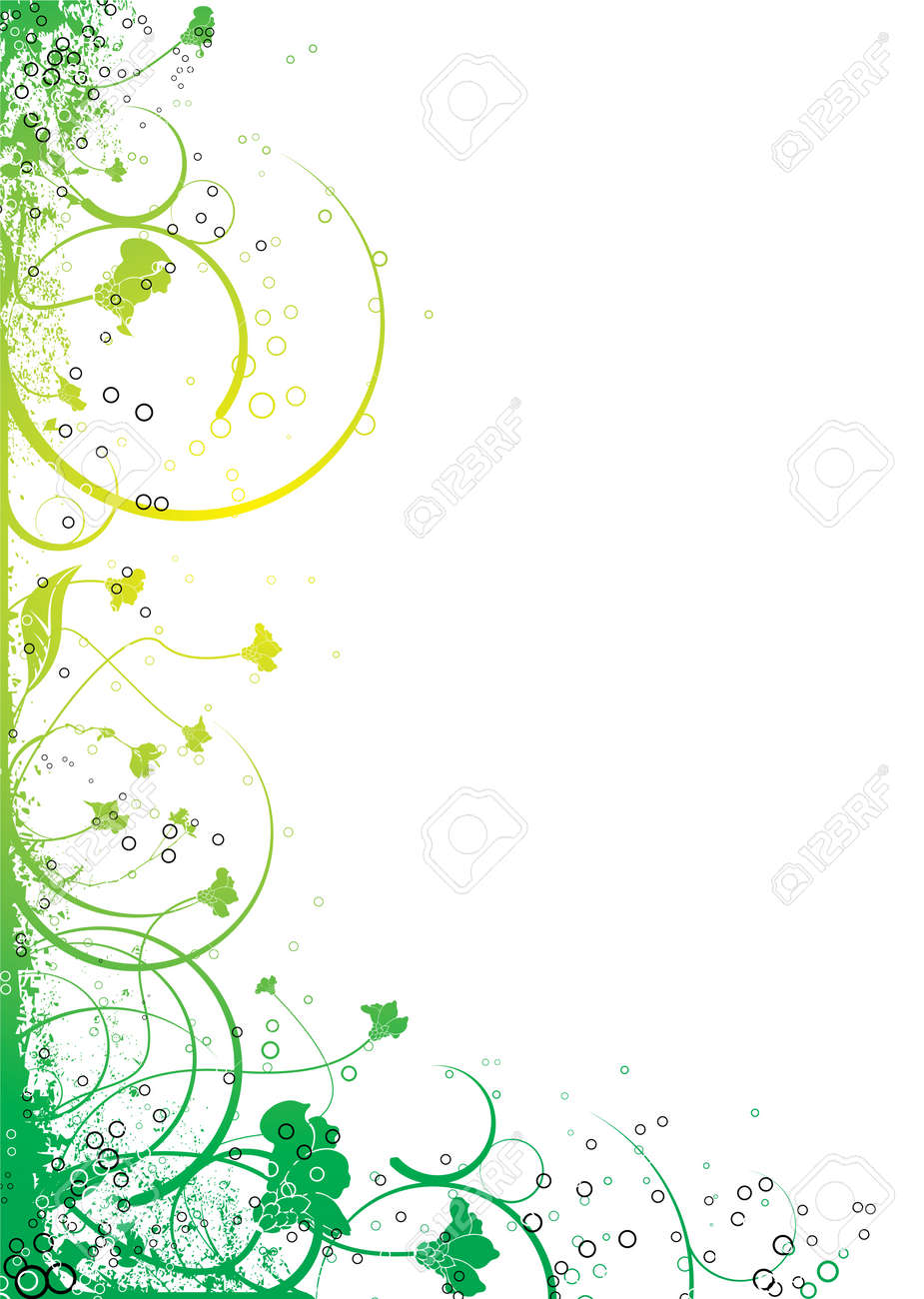 abstract floral design in yellow and green that will make an
