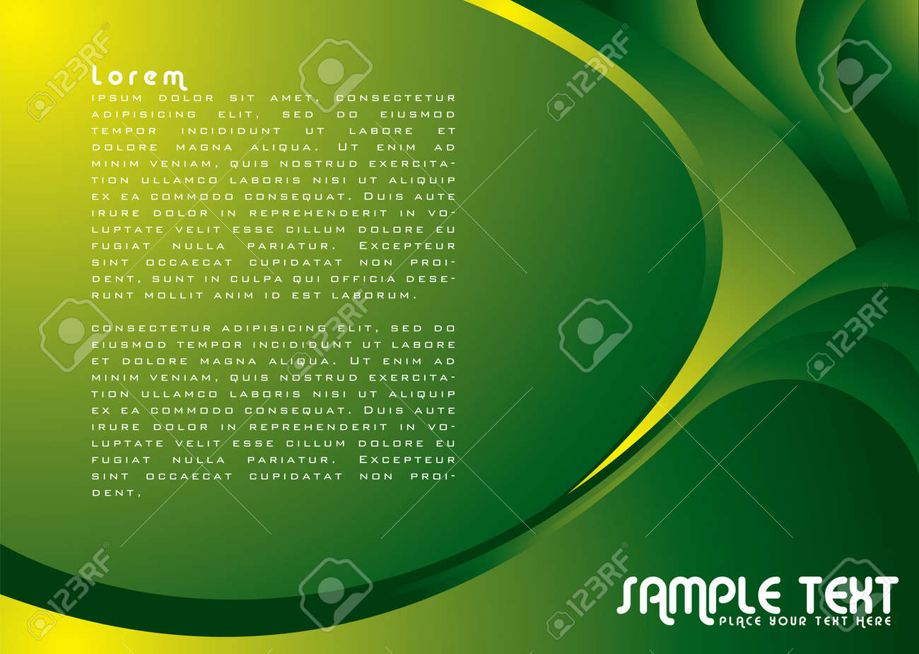 Illustrated colorful background with copy space in green Stock Vector - 3049595