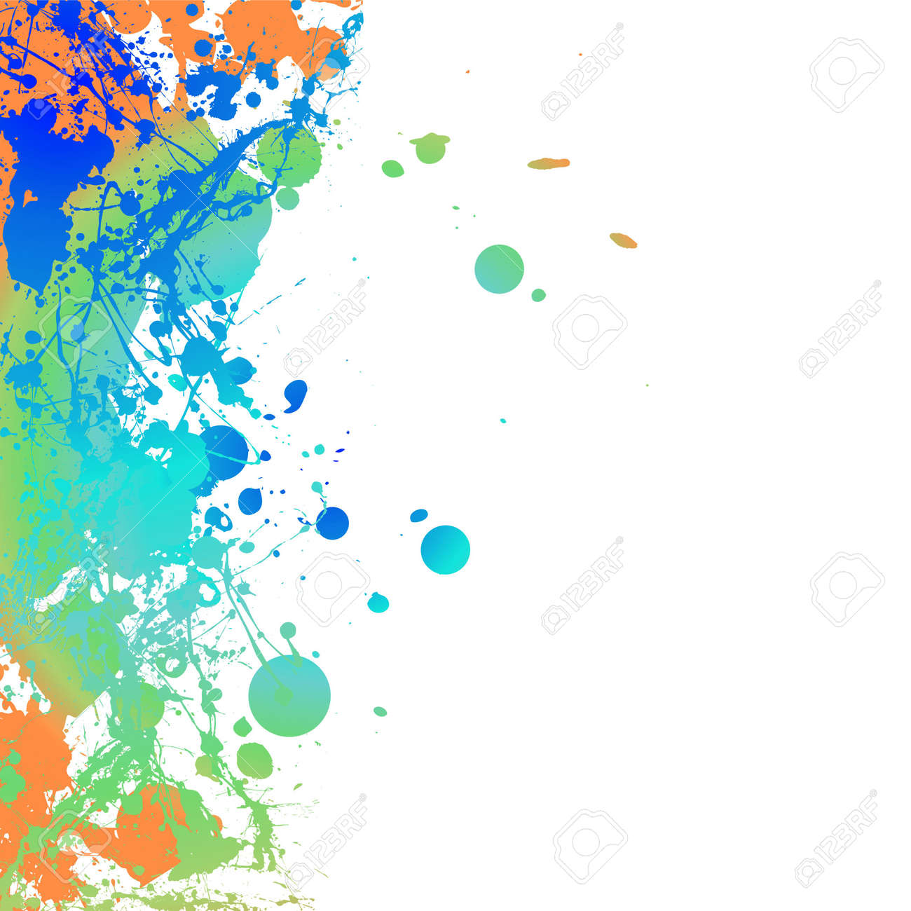 Colourful ink splat background with room to add your own copy Stock Photo - 3660718