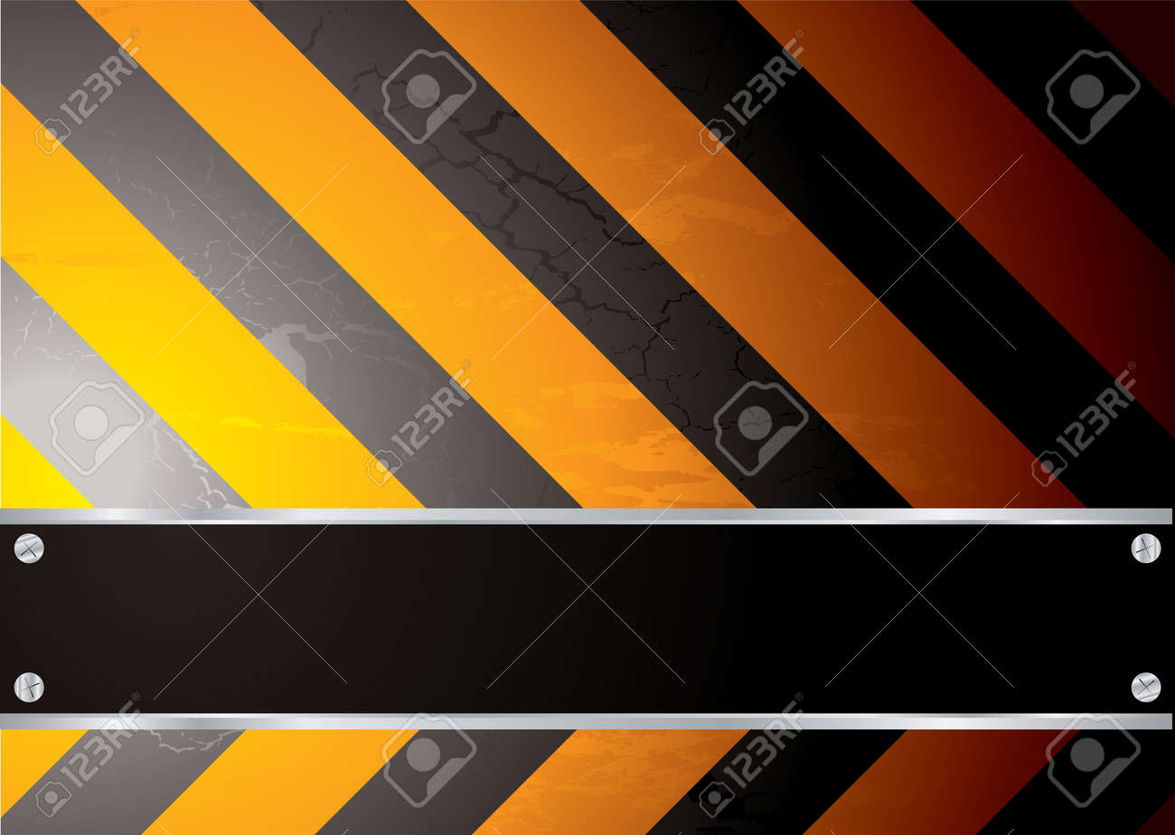 Colourful stripped warning background with copy space and screw Stock Vector - 3701744