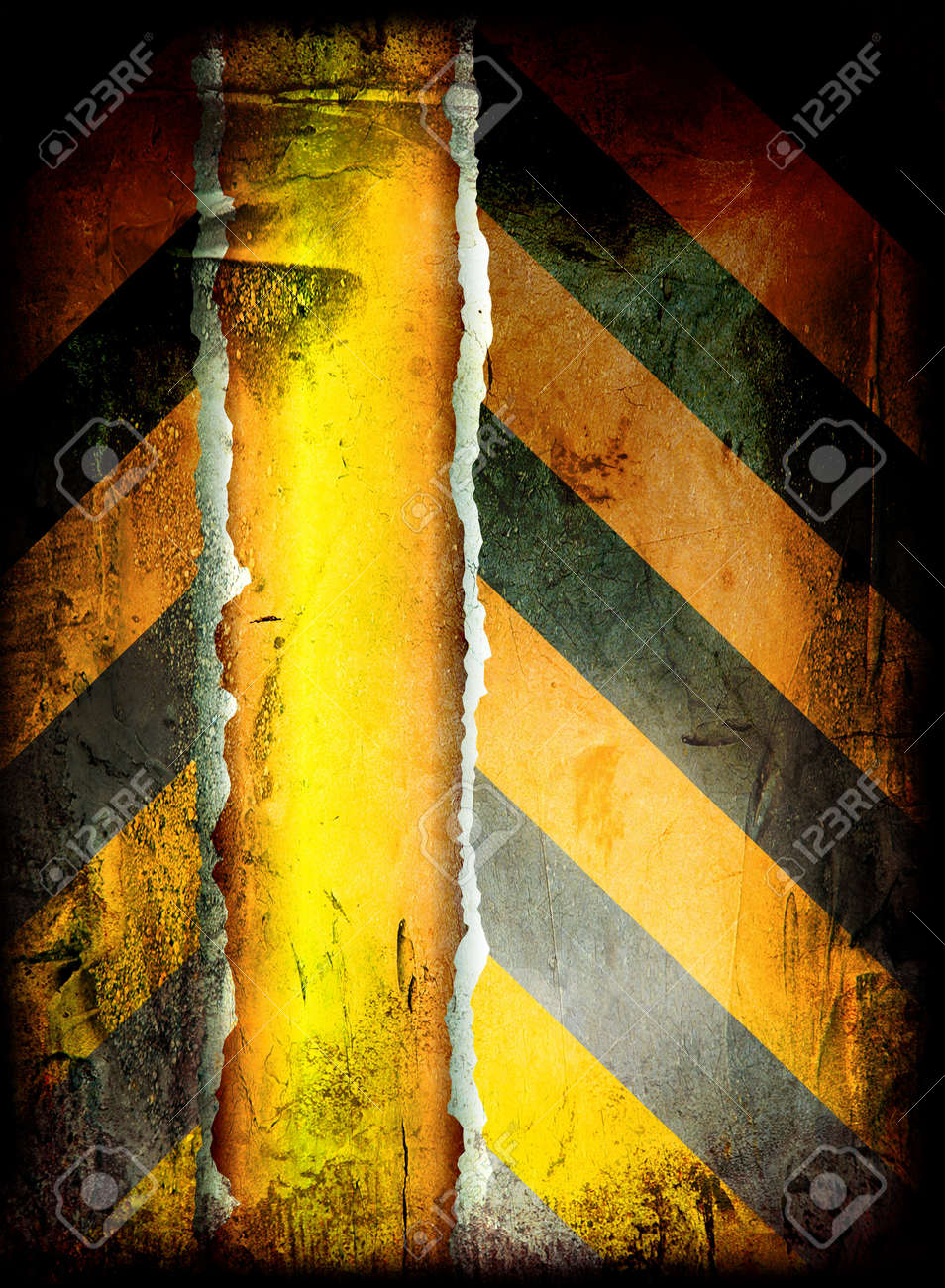 grunge warning background with room to add your own copy Stock Photo - 3804320