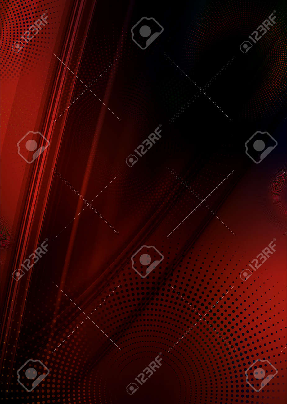 Red and black abstract flow background with copyspace Stock Photo - 4160918