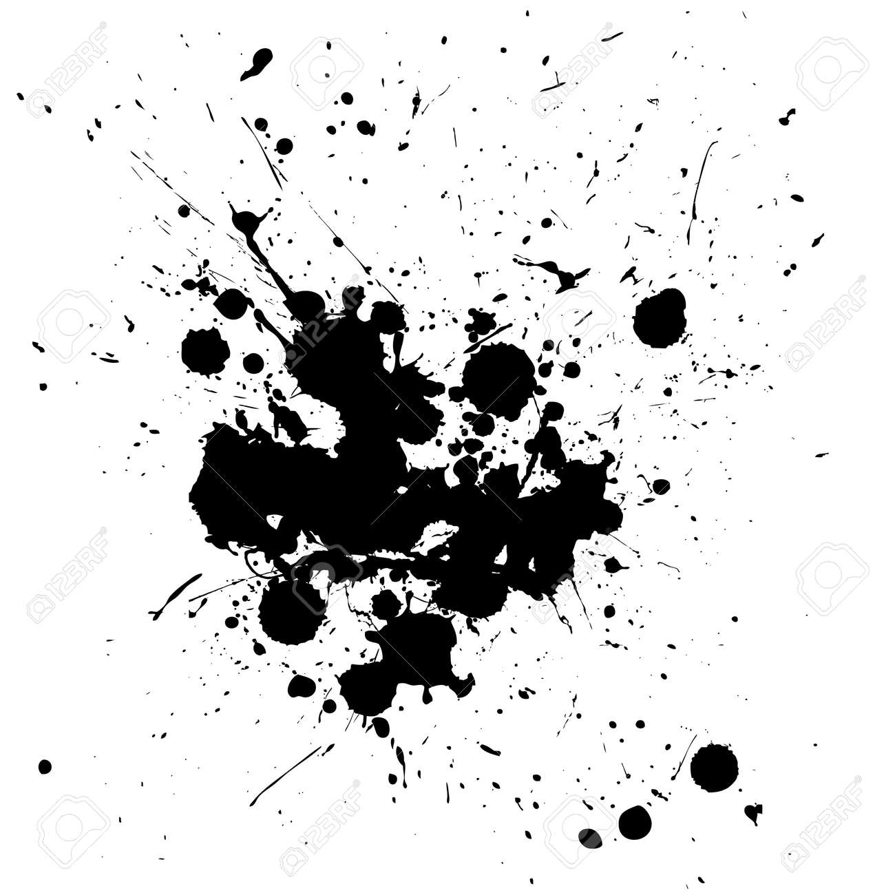 Black ink splat isolated on a white background Stock Vector - 4537022