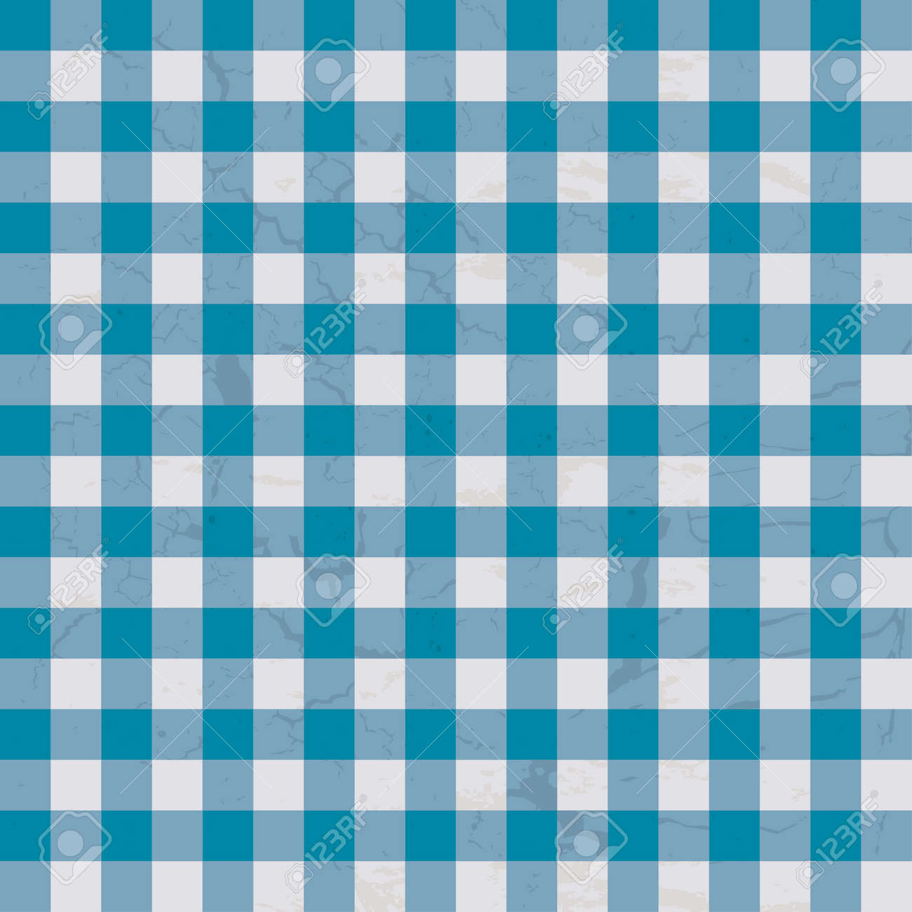 Checkered Design Checkered Blue And White Table Cloth With Repeat Design Royalty