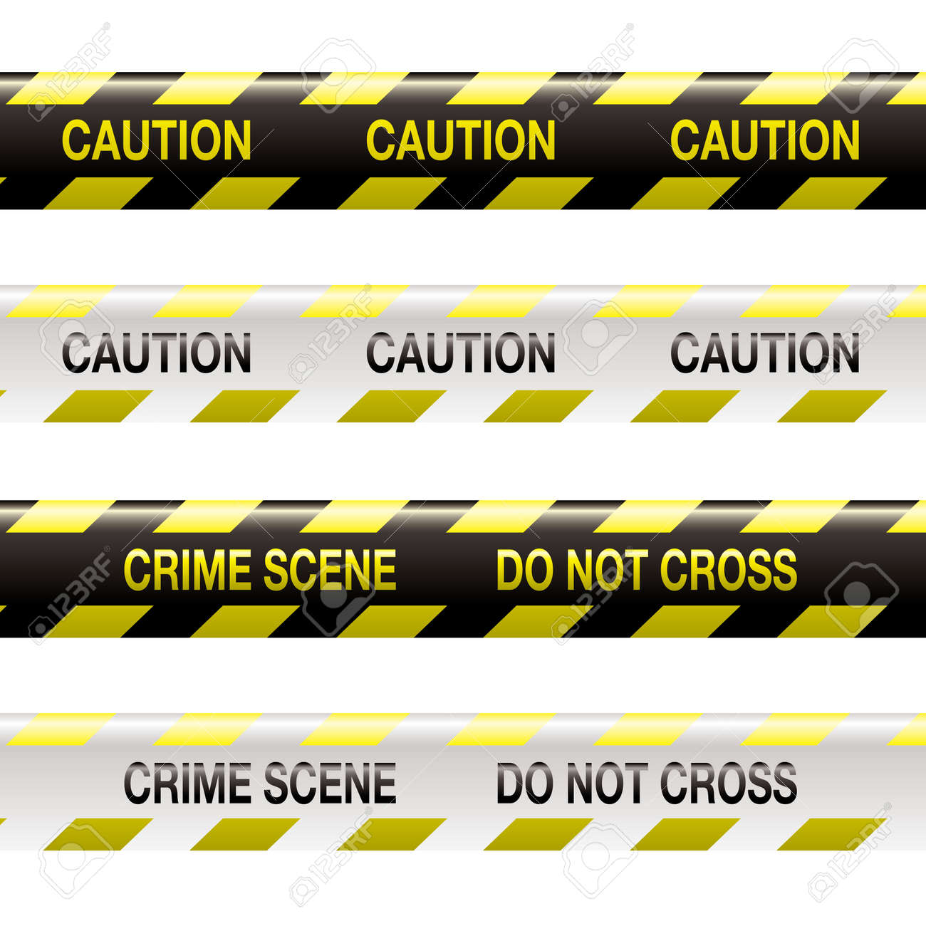 yellow and black police tape with warning stripe and text Stock Vector - 5458669