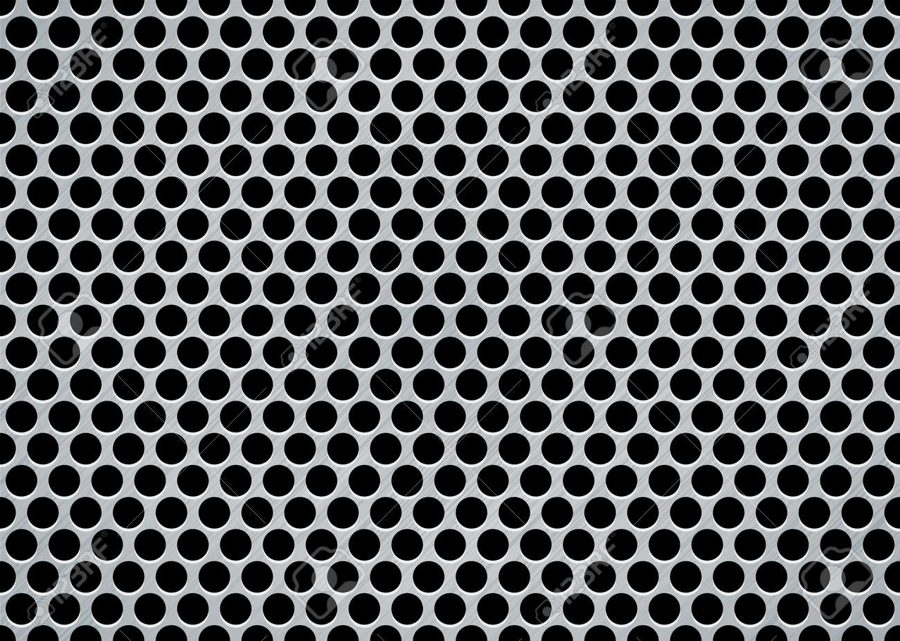 brushed metal aluminum background with large holes in mesh pattern Stock Vector - 5686045