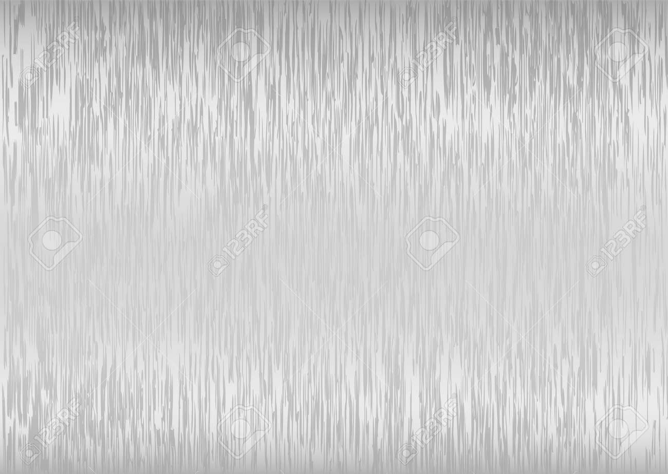 Abstract silver brushed backdrop with light reflection and grain Stock Vector - 5741878