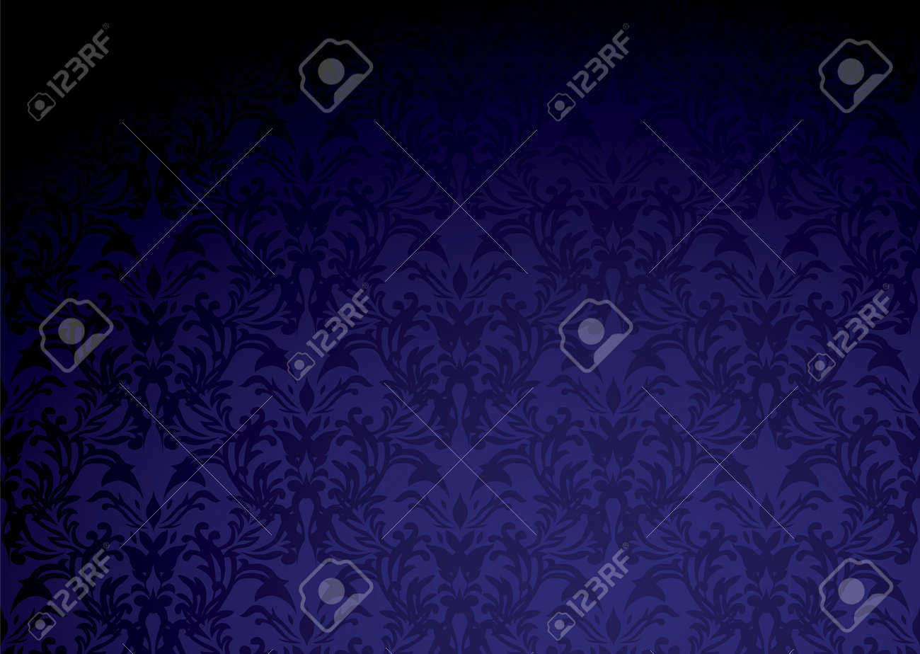 Classic purple wallpaper pattern with dark shadow and copy space Stock Vector - 5890500
