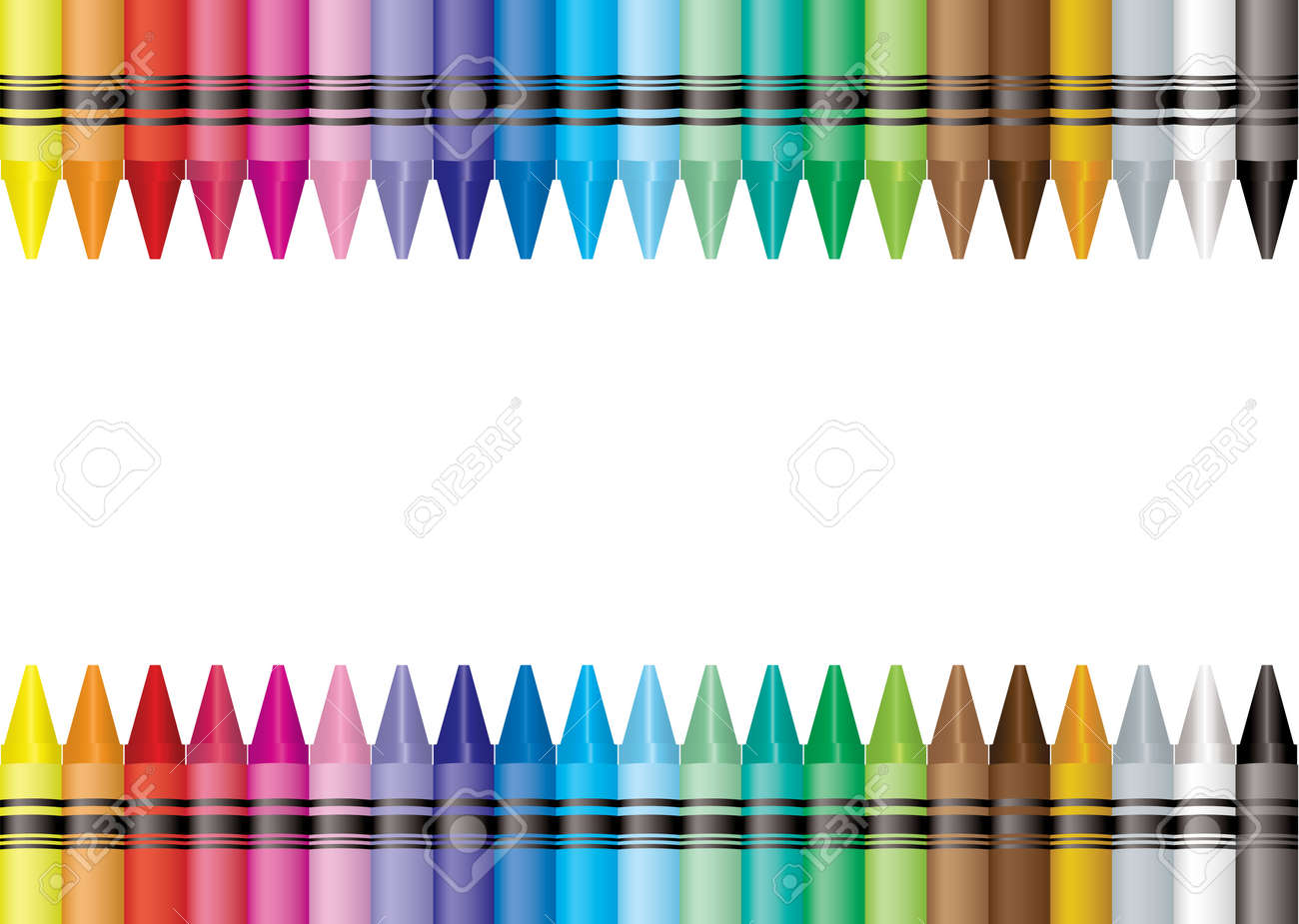 Brightly colored crayon border with room to add your own text Stock Vector - 6013518