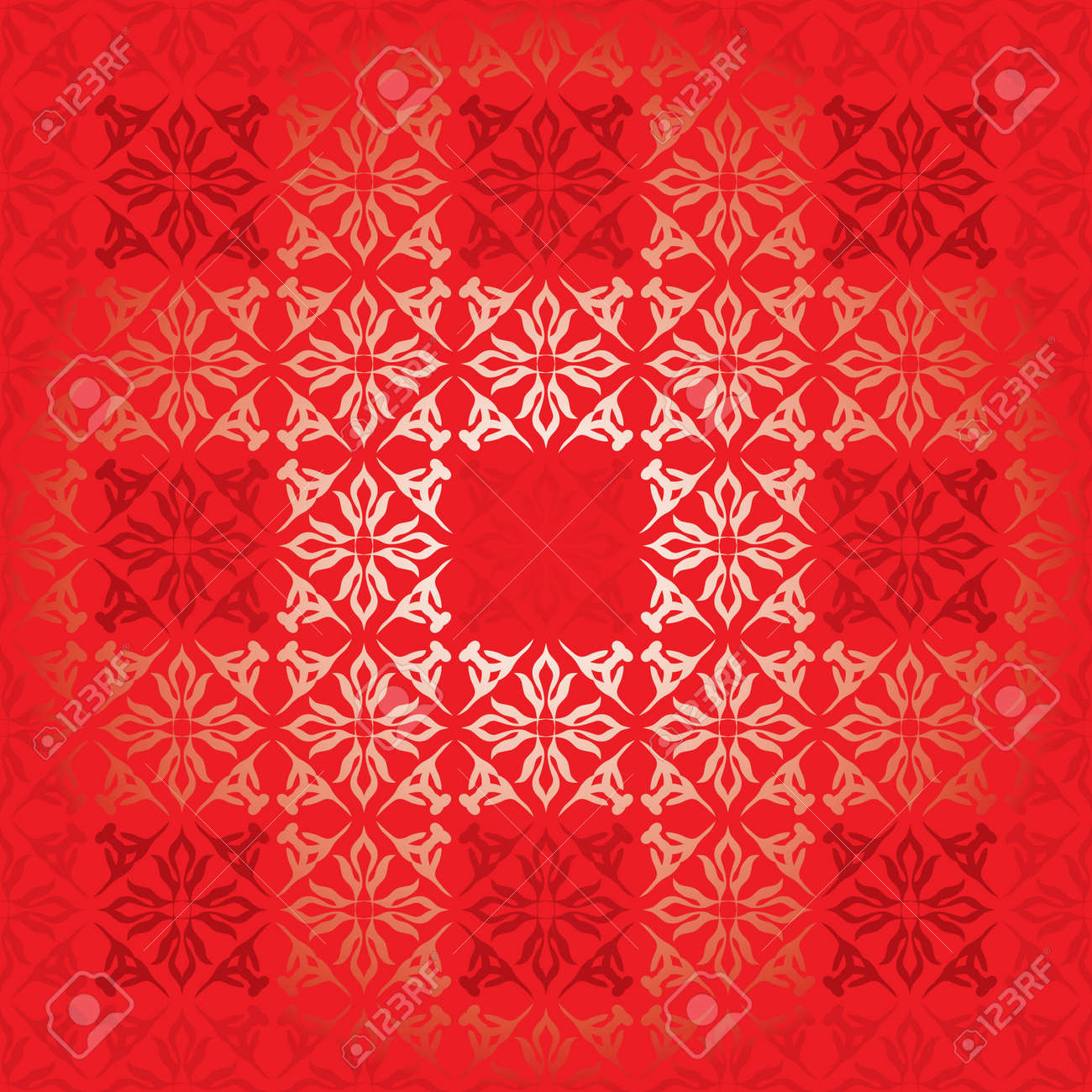 shades of red square background with floral elements royalty free