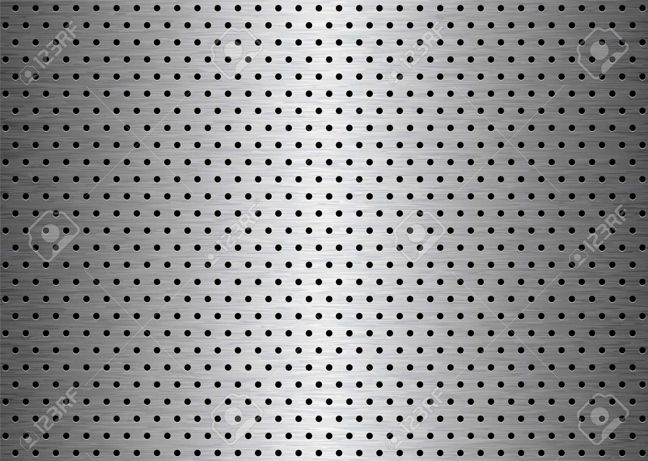 Brushed sheet metal plate background with holes with grain Stock Vector - 6312951