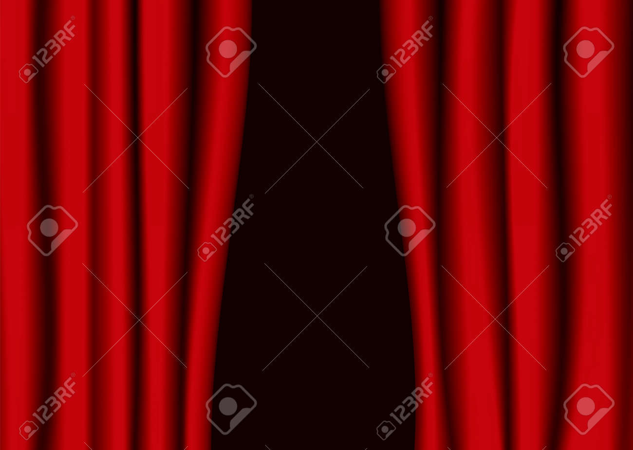 Open black curtain - Open Black Curtain Red Theater Curtains Partly Open With Black Background Stock Vector 6312954
