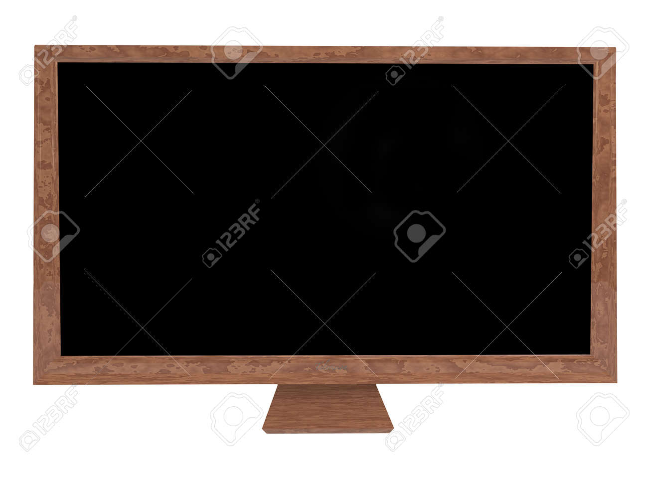 Stone case on a modern flat screen television with room to add your own image Stock Photo - 6648353