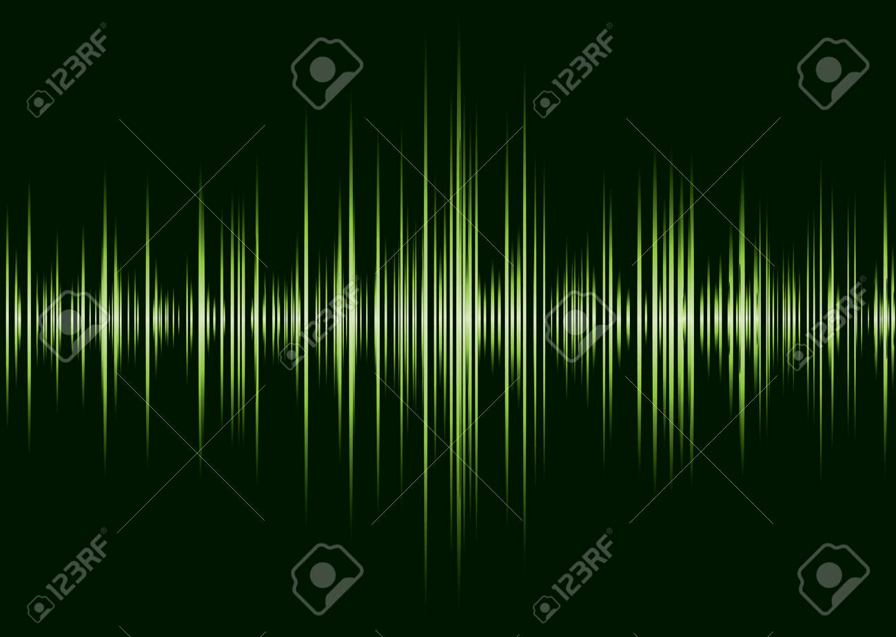 Black and green music inspire graphic equalizer wave and black