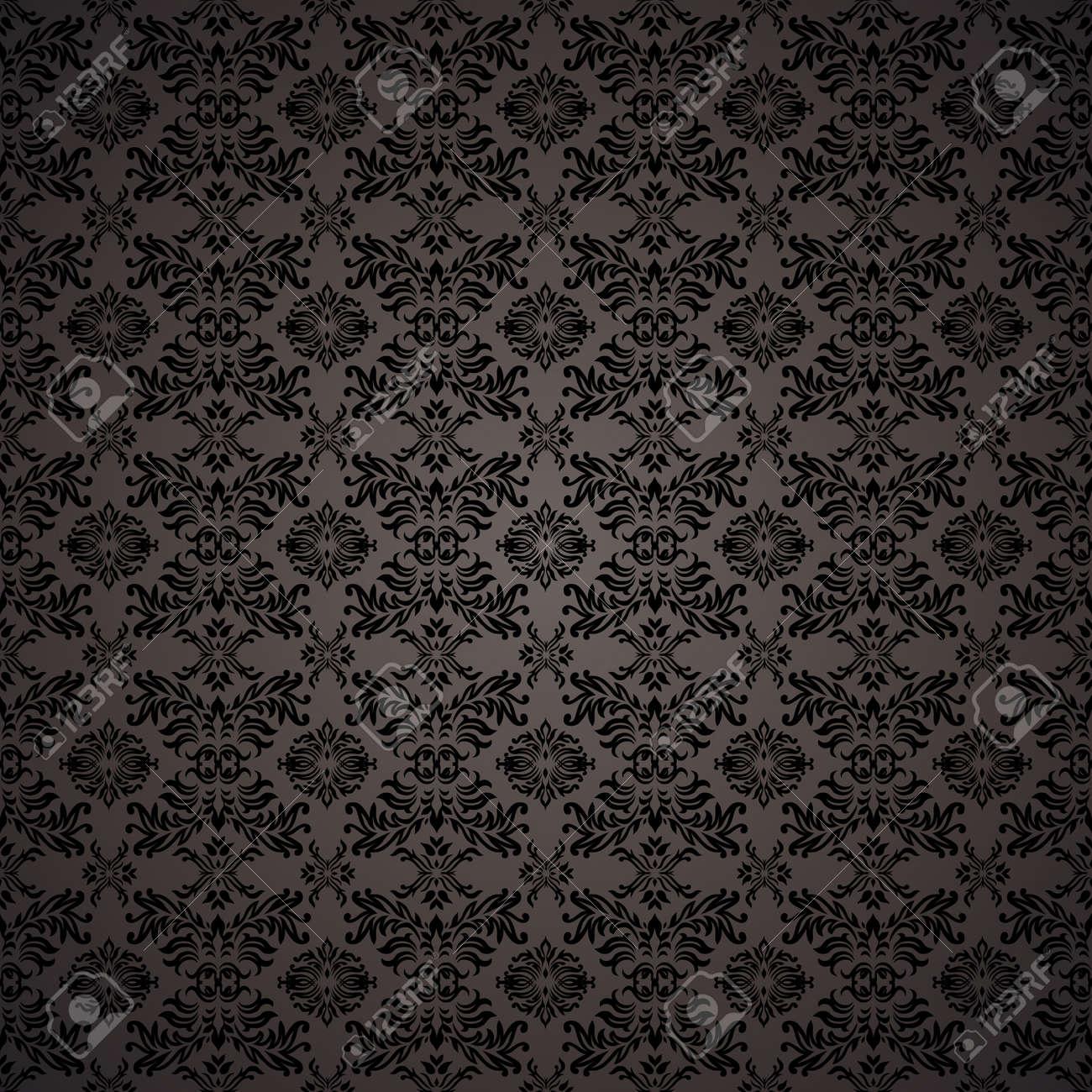 黒ゴシック シームレスな壁紙の背景のデザインのコンセプトを繰り返し