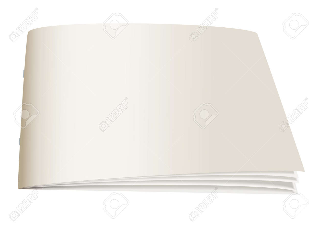White paper back book with fan open pages Stock Photo - 7123958