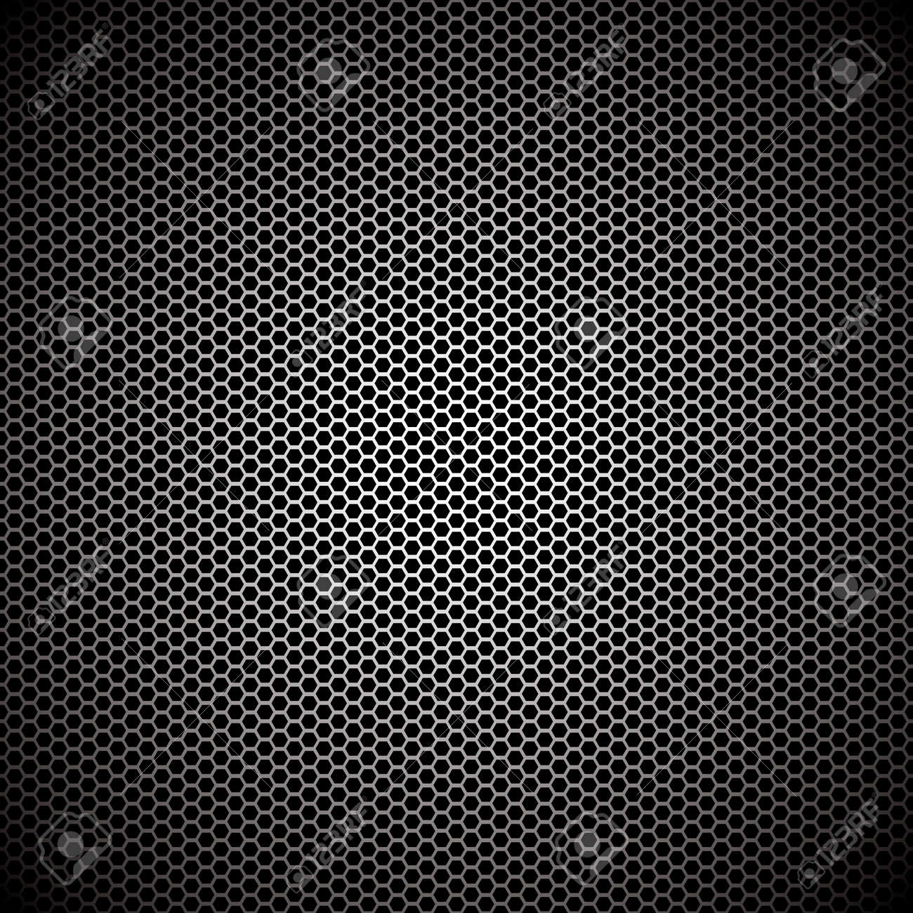 Hexagon metal background with light reflection ideal wallpaper - 7331391