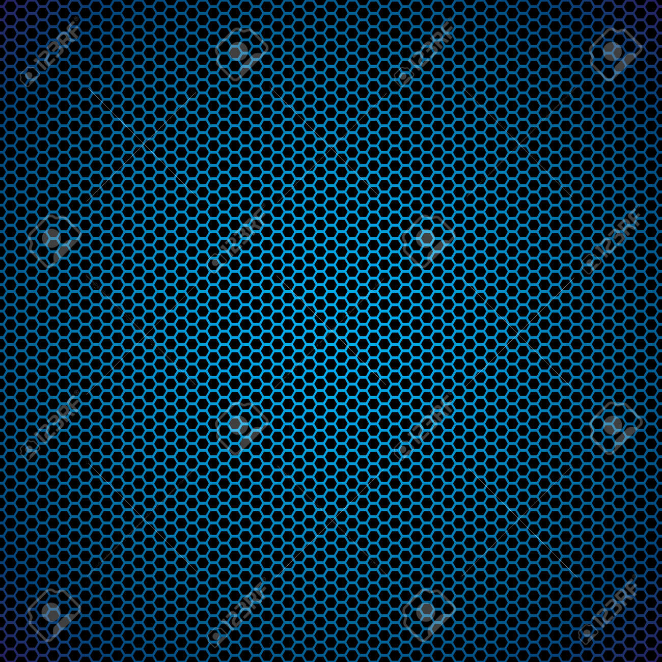 Abstract blue metal hexagon background with honeycomb effect - 7635410