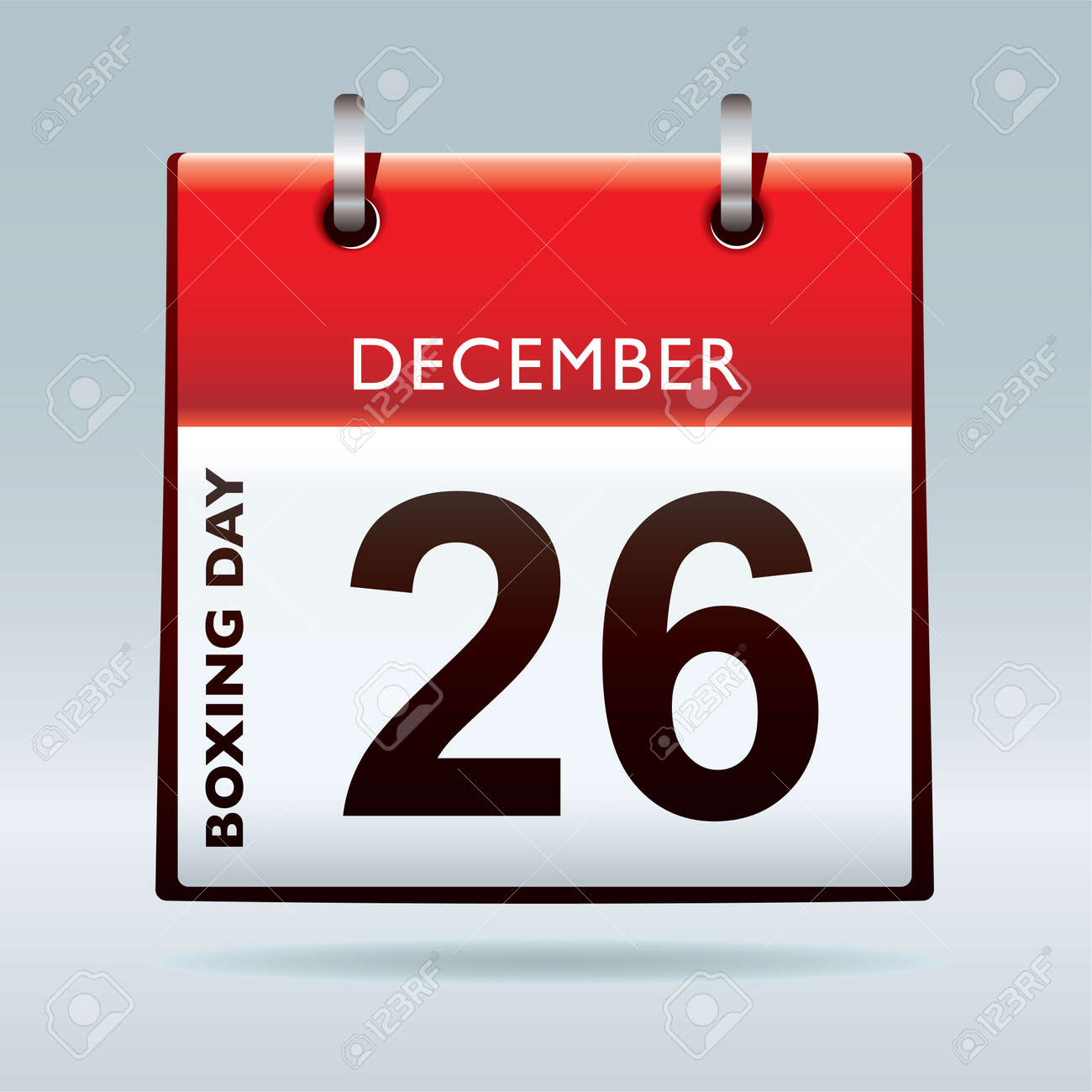 Simple red and white boxing day calendar icon - 8400019