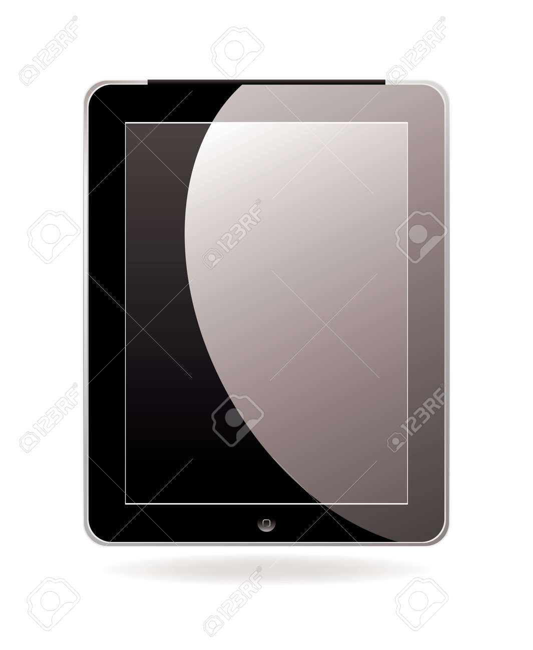 Modern hand held or laptop mobile computer with touch screen Stock Photo - 9198175
